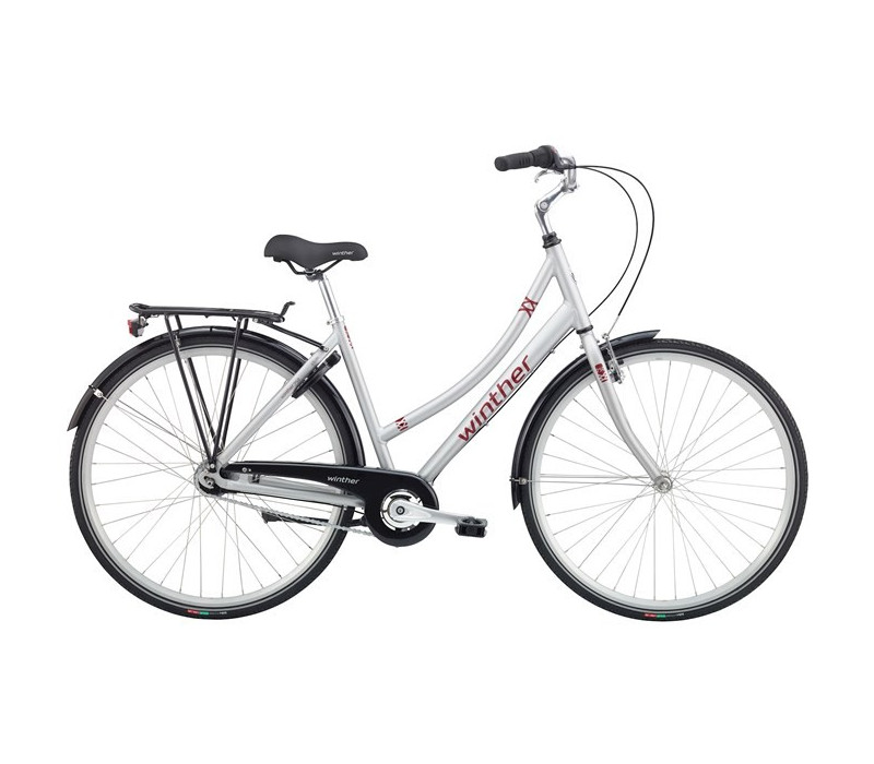 Winther 750 DA 48cm N7 Mat silver/Dark red 2016
