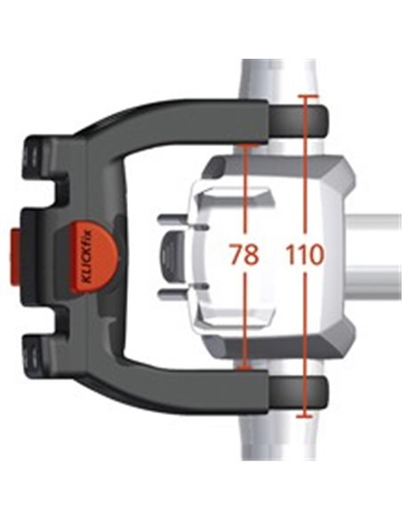 Klickfix beslag for elcykel